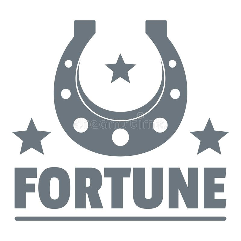 Logo de fortune, style de vintage illustration stock