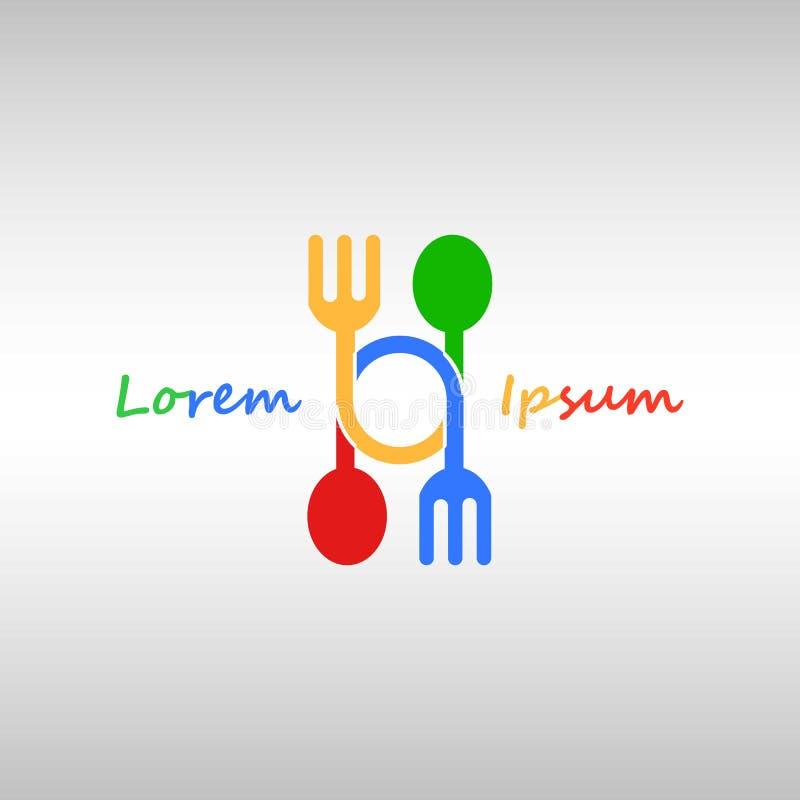 Logo de fourchette et de cuillère illustration libre de droits