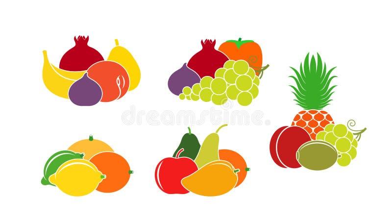 Logo de fruit Fruit d'isolement sur le fond blanc illustration libre de droits