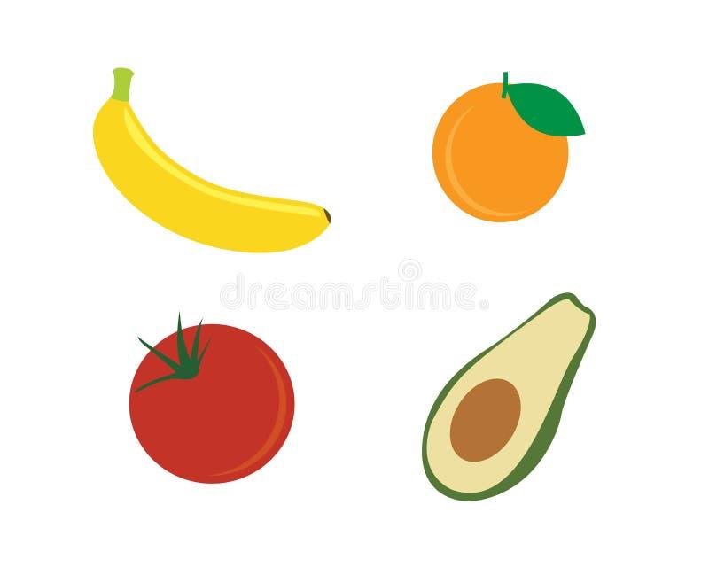 Logo de fruit et conception d'icône image libre de droits