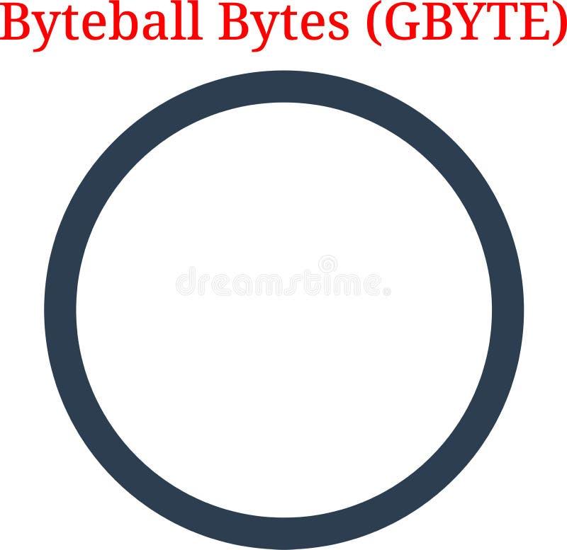 Logo de G-octet d'octets de Byteball de vecteur illustration stock