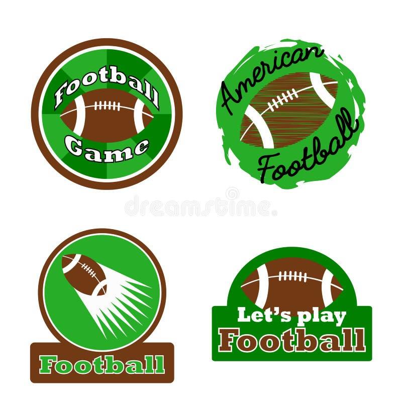 Logo de gagnant de défi de football américain, label, insigne illustration de vecteur