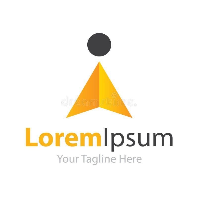 Logo de gain d'icône d'éléments de succès de concept d'état d'esprit illustration stock