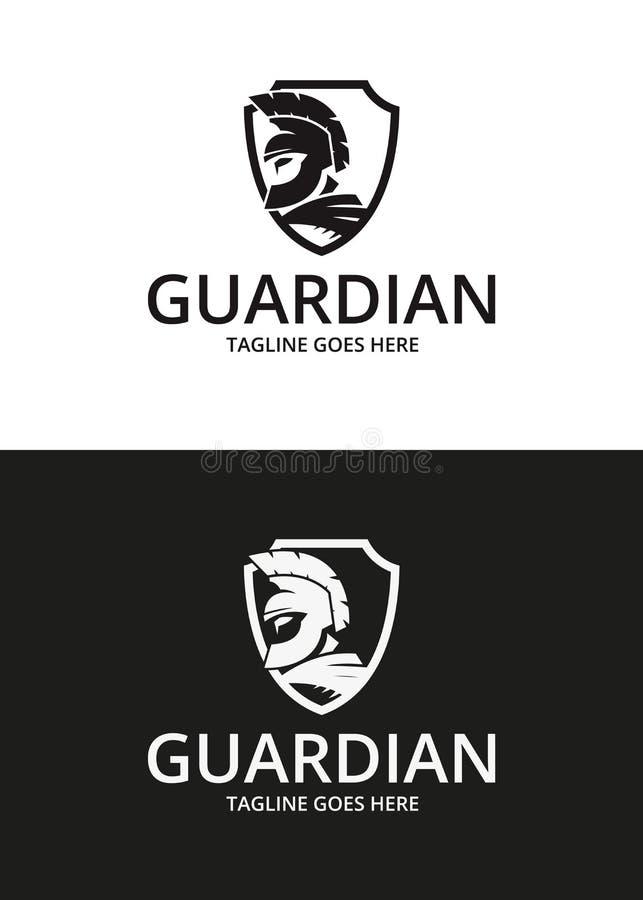 Logo de gardien Logotype de guerrier illustration stock