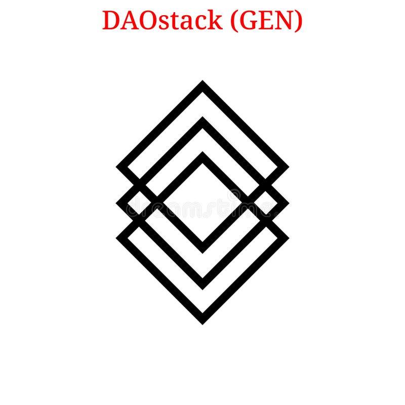 Logo de GEN de DAOstack de vecteur illustration stock