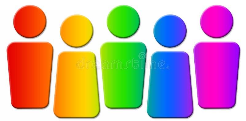 Logo de gens illustration libre de droits