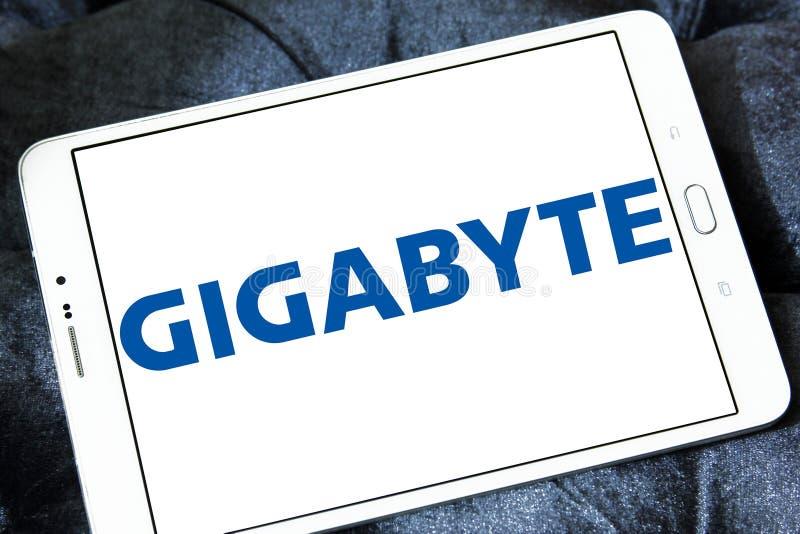 Logo de gigaoctet photo stock