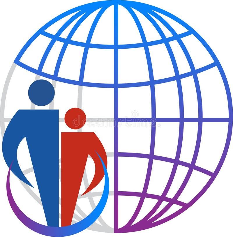 Logo de globe de famille illustration de vecteur