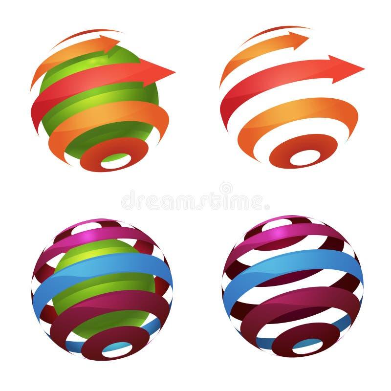 Logo de globe de sphère illustration de vecteur
