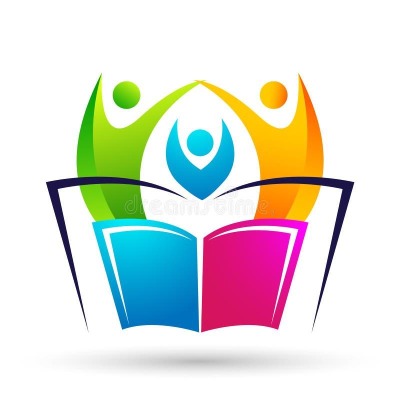 Logo de Globe world Education niños libros escolares iconos stock de ilustración