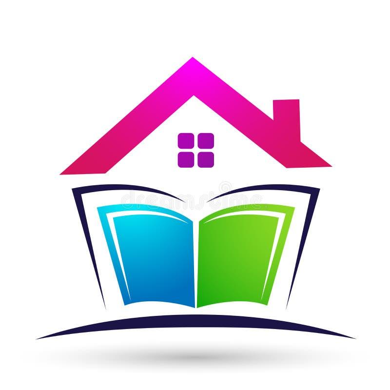 Logo de Globe world Education niños libros escolares iconos ilustración del vector