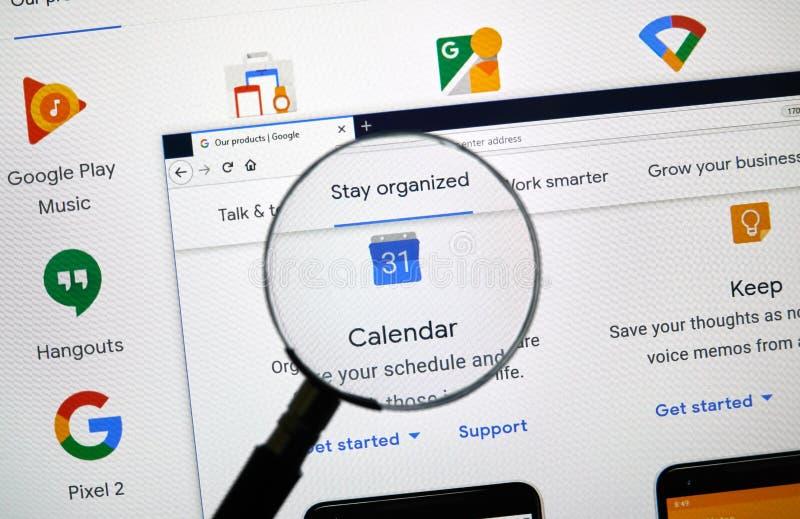 Logo de Google Agenda photo libre de droits