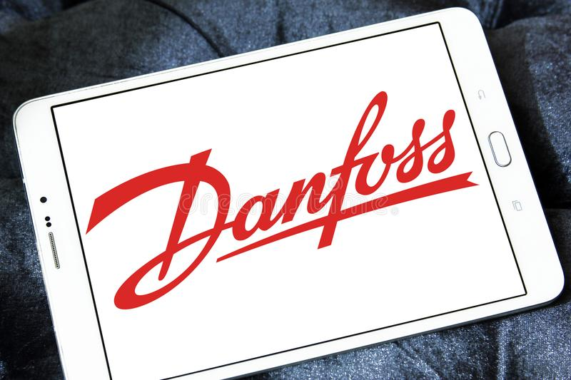 Logo de groupe de Danfoss photos stock