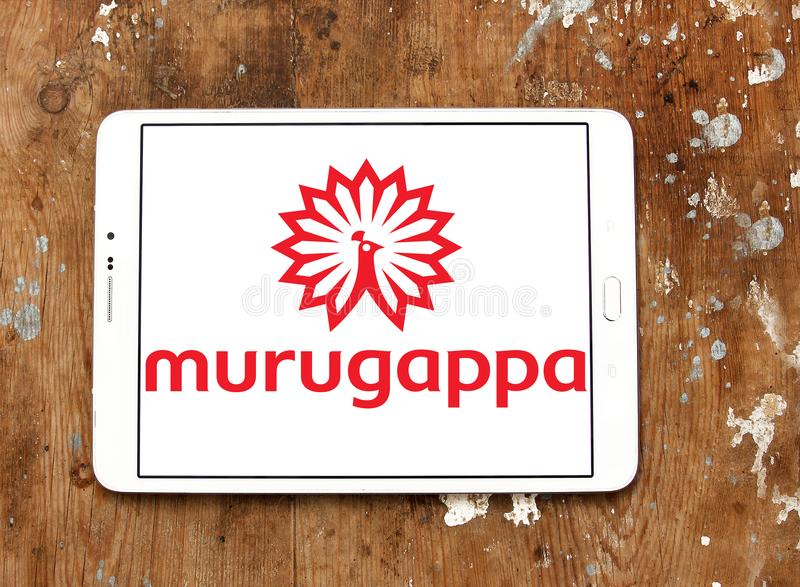 Logo de groupe de Murugappa photos stock