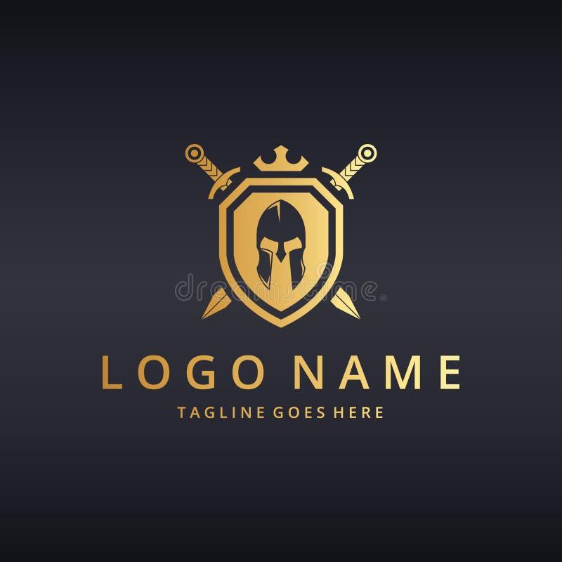 Logo de guerrier images stock