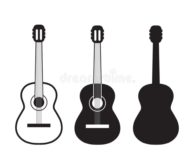 LOGO DE GUITARE illustration de vecteur