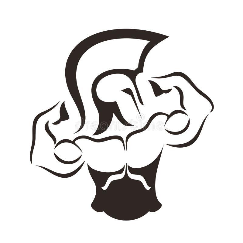 Logo de gymnase illustration stock