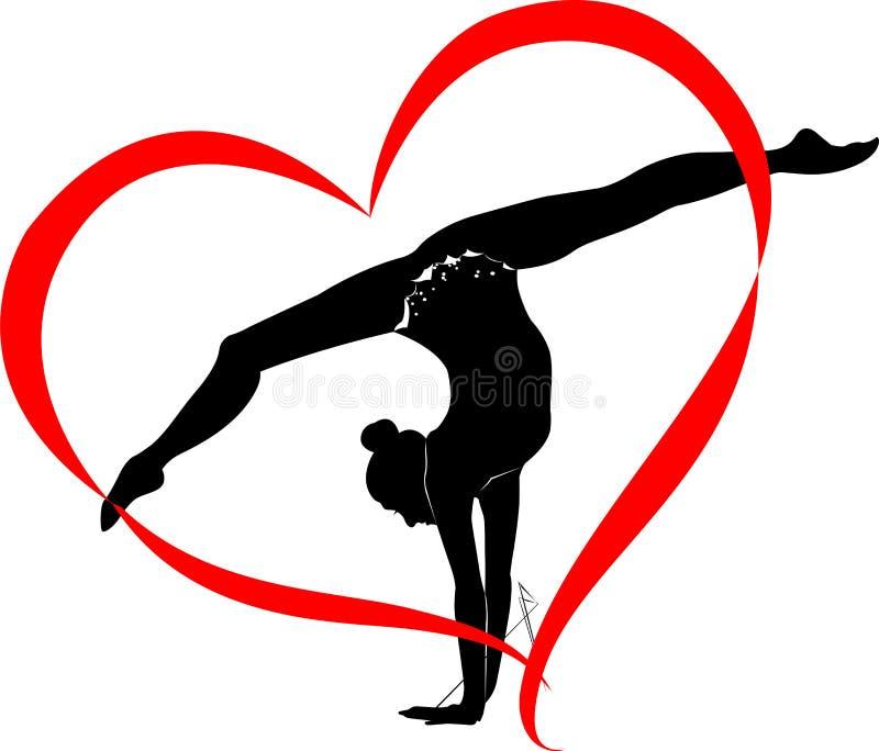 Logo de gymnastique illustration stock