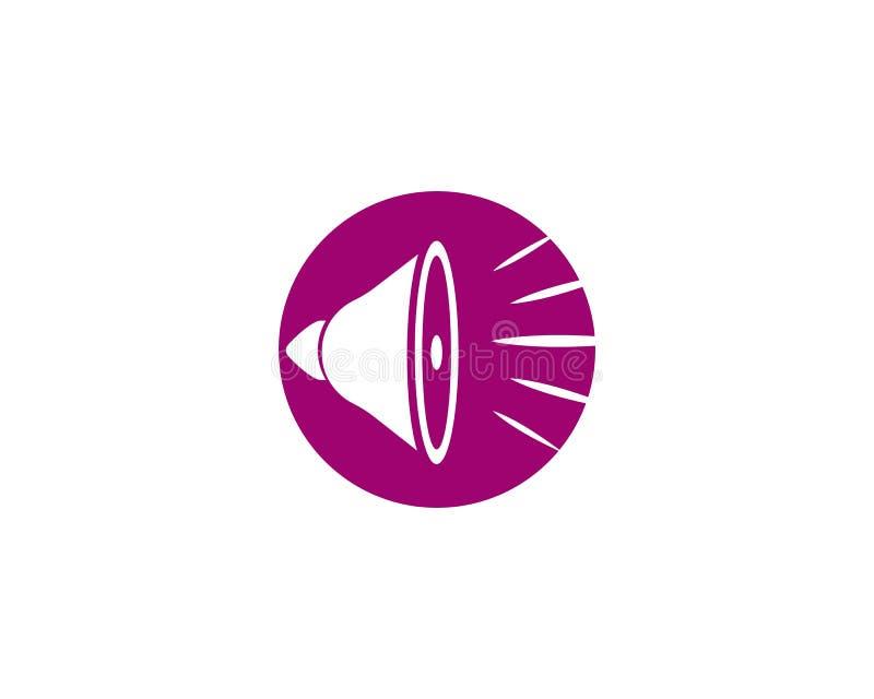 logo de haut-parleur illustration libre de droits