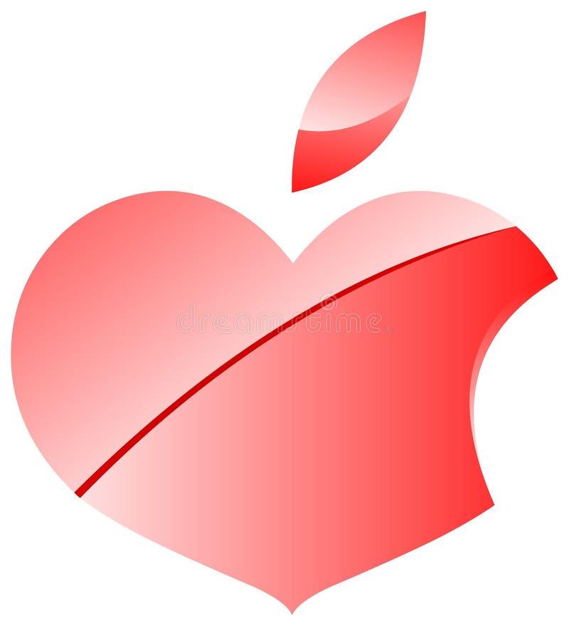 Logo de Hearpple Valentine illustration de vecteur