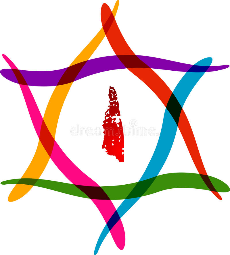 Logo de Hexagram illustration stock