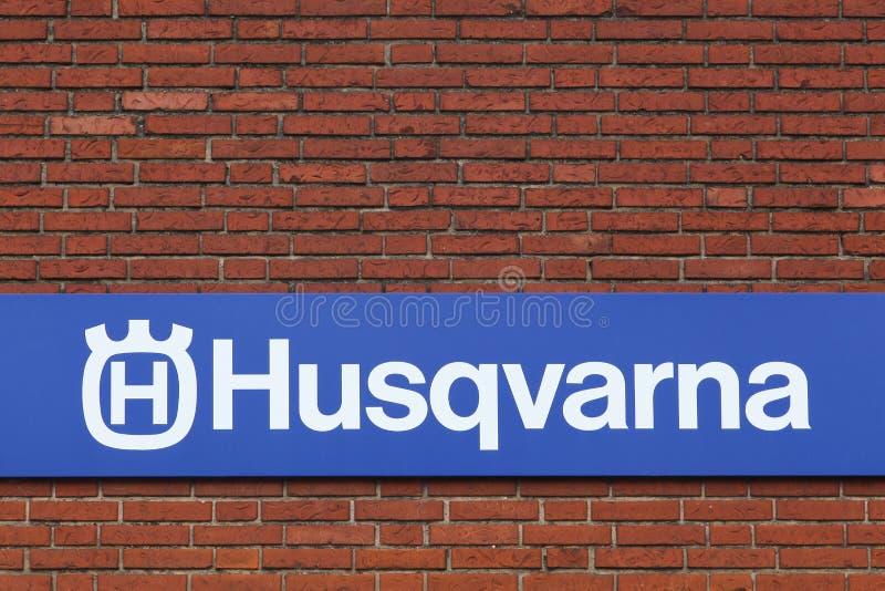 Logo de Husqvarna sur une façade photographie stock