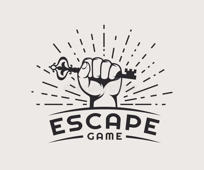 Logo de jeu d'évasion illustration libre de droits