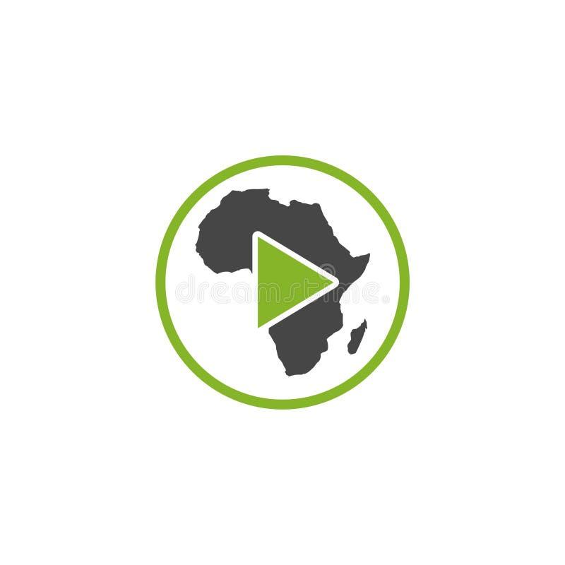 Logo de joueur de carte de l'Afrique illustration libre de droits