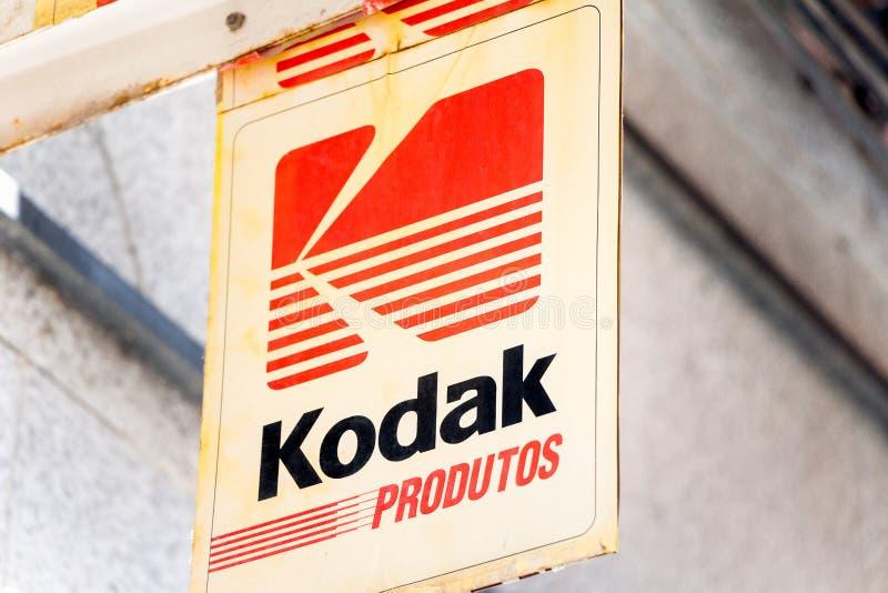 Logo de Kodak sur le magasin de Kodak photo stock