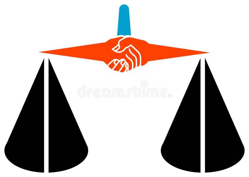 Logo de légalité illustration libre de droits