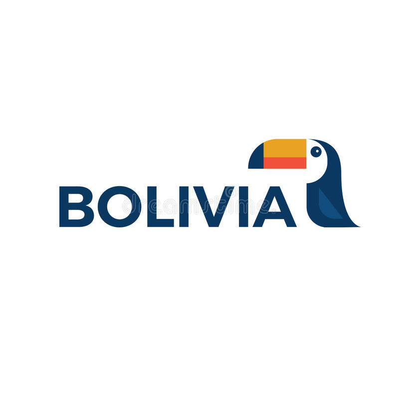 Logo de la Bolivie avec le toucan illustration stock