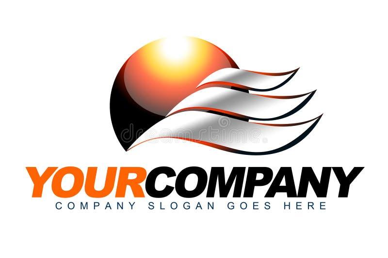 Logo de la chaleur de Sun illustration libre de droits