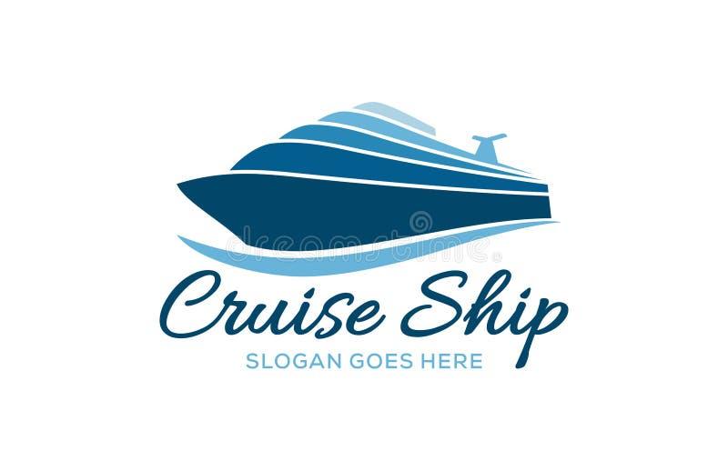Logo de la compagnie Cruise Ship illustration libre de droits