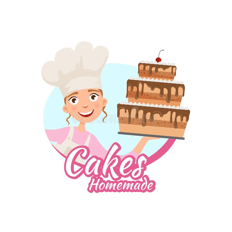 Logo de la cuisson à la maison illustration de vecteur