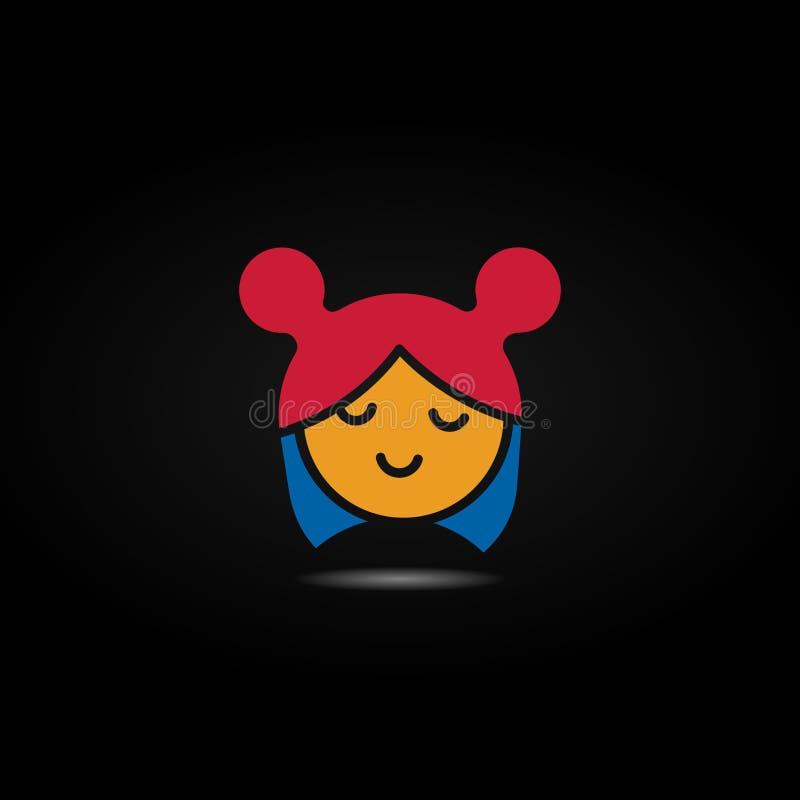 Logo de la fillette de jouets illustration libre de droits