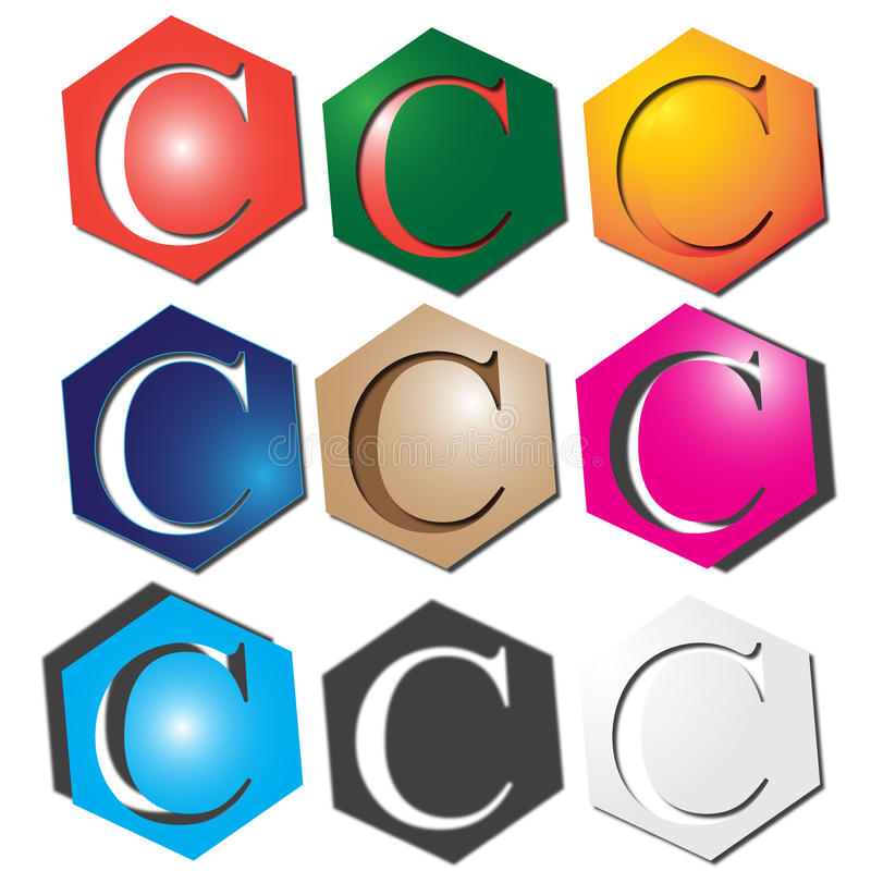 Logo de la lettre C illustration stock