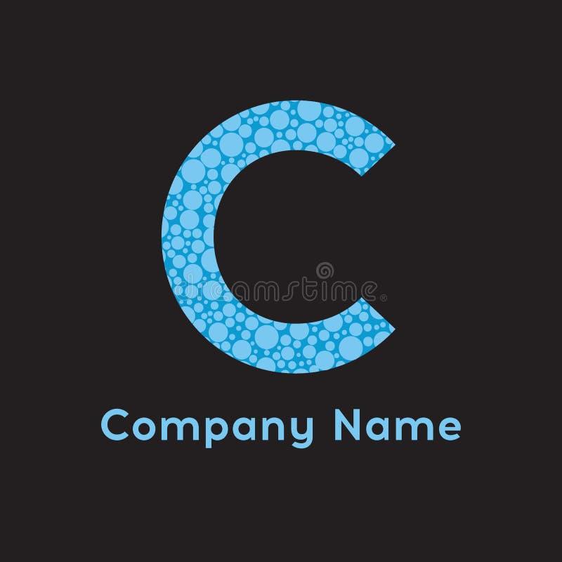 Logo de la lettre C Logo d'affaires - illustration Bulles de la lettre C illustration de vecteur
