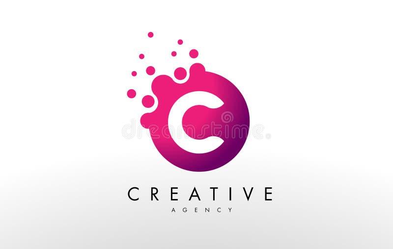 Logo de la lettre C Vecteur de conception de lettre de C illustration libre de droits
