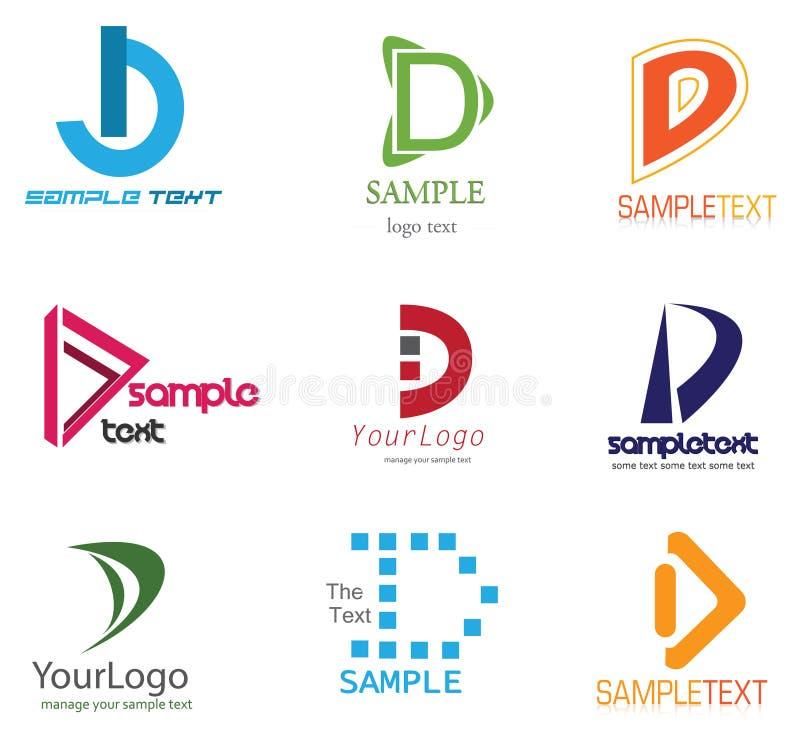 Logo de la lettre D illustration libre de droits