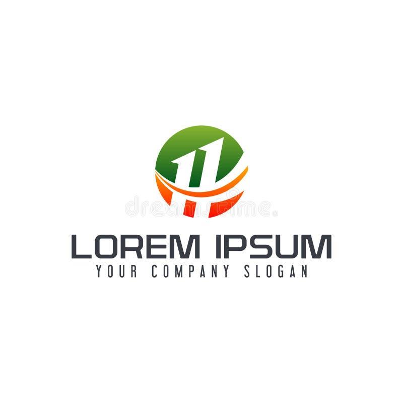 Logo de la lettre H calibre de concept de construction de cercle illustration libre de droits