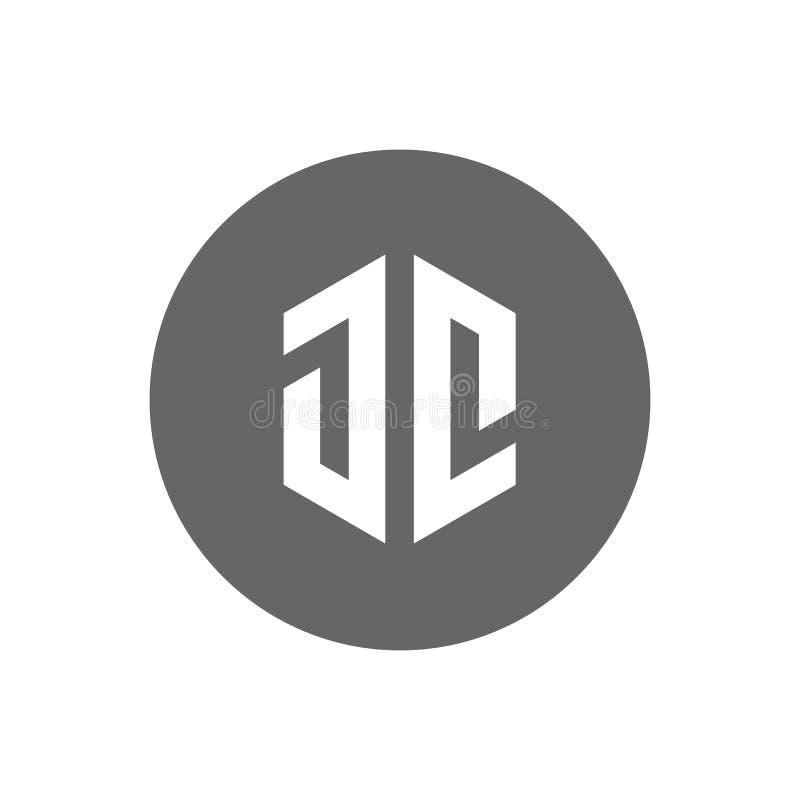 Logo de la lettre initiale JC Icône moderne et minimaliste - vecteur illustration libre de droits