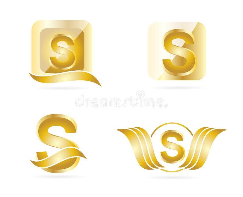 Logo de la lettre S illustration libre de droits
