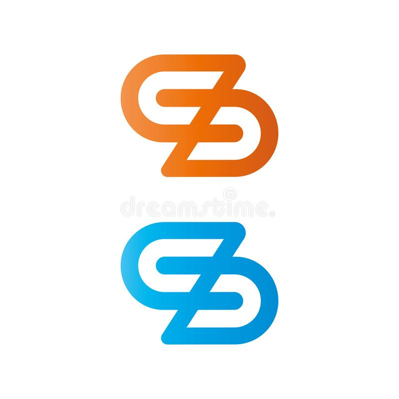 Logo de la lettre S ?l?ment de conception de vecteur pour des affaires illustration stock
