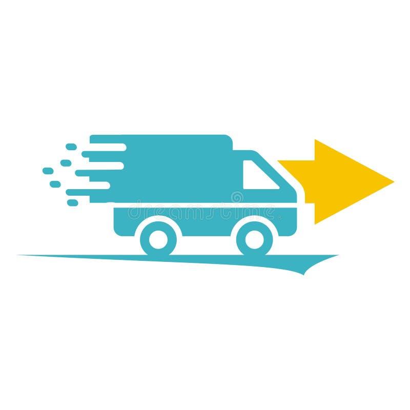 Logo de la livraison de boîte de voiture illustration de vecteur