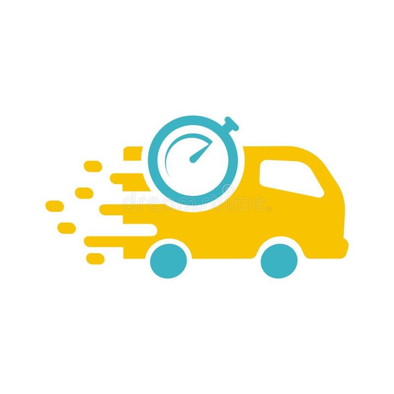 Logo de la livraison de boîte de voiture illustration stock