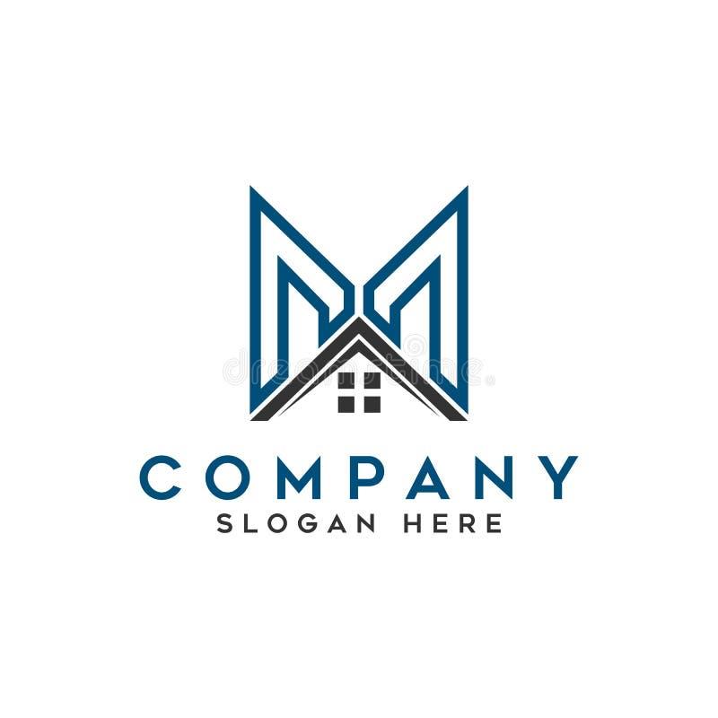 Logo de la maison de toit illustration de vecteur