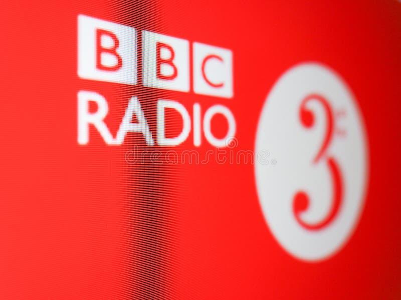 Logo de la radio 3 de BBC à Londres image stock