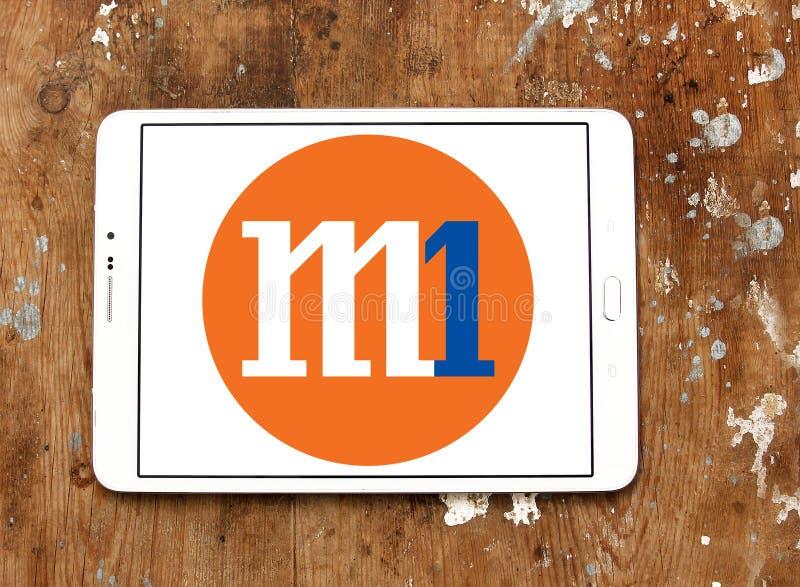Logo de la société anonyme M1 photographie stock libre de droits