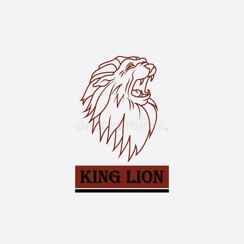 Logo de la t?te du roi de lion illustration libre de droits