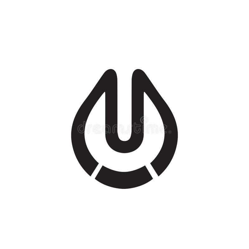 Logo de laboratoire, logo de l'eau de baisse illustration libre de droits